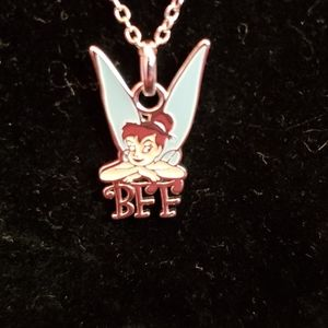 Girls Tinkerbell BFF silver plated